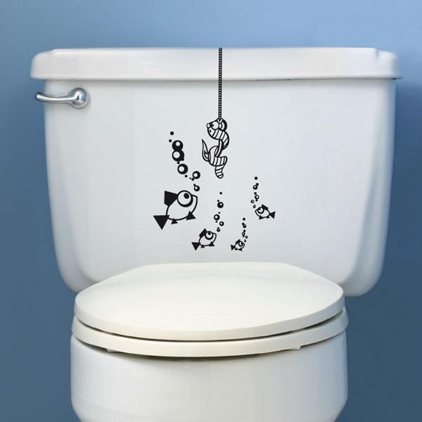 sticker wc ver suspendu stickers animaux stickers muraux. Black Bedroom Furniture Sets. Home Design Ideas