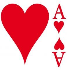 Sticker As de coeur