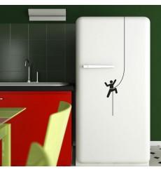 Sticker Escalade le frigo