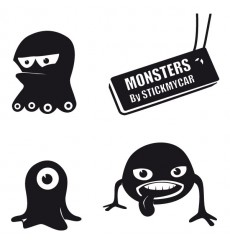 Sticker Pack monstres 4