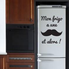 Sticker Mon frigo a une moustache