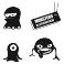 Sticker Pack monstres 4 - stickers monstre & stickers muraux - fanastick.com