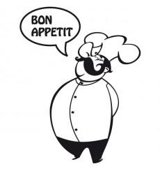 Sticker Chef bon appétit