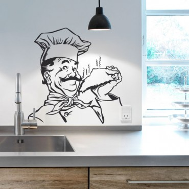 Sticker Chef gourmand - stickers cuisine & stickers muraux - fanastick.com