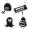 Sticker Pack monstres 5 - stickers monstre & stickers muraux - fanastick.com