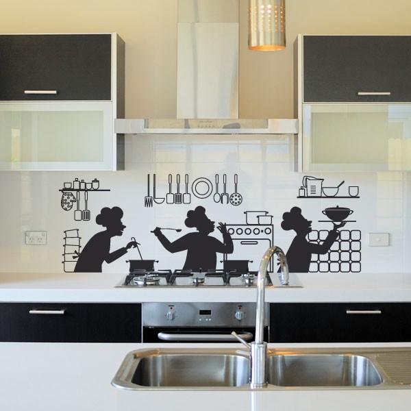 sticker cuisine en folie stickers cuisine stickers. Black Bedroom Furniture Sets. Home Design Ideas