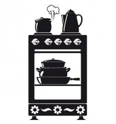 Sticker Cuisinière