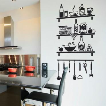 Sticker Etagères cuisine - stickers cuisine & stickers muraux - fanastick.com