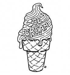Sticker Ice cream