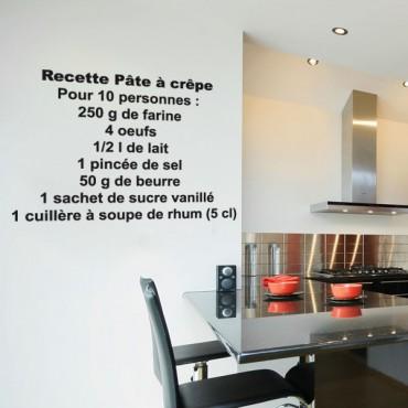 Sticker Pâte à crêpes - stickers cuisine & stickers muraux - fanastick.com