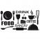 Sticker Signalétique cuisine - stickers cuisine & stickers muraux - fanastick.com