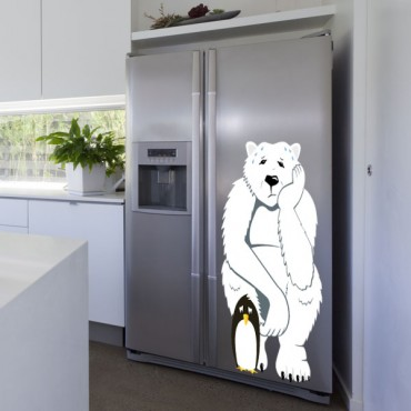 Sticker Trop chaud - stickers frigo & stickers muraux - fanastick.com