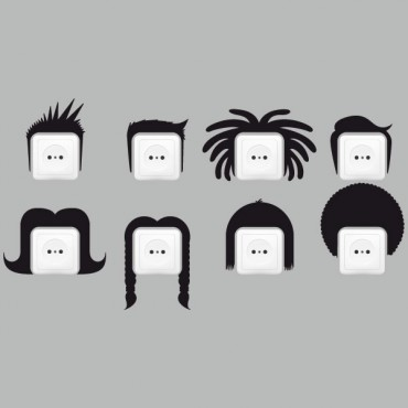 Sticker Prise pack coiffures - stickers prise & stickers muraux - fanastick.com
