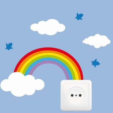 Sticker Prise dans les nuages - stickers prise & stickers muraux - fanastick.com