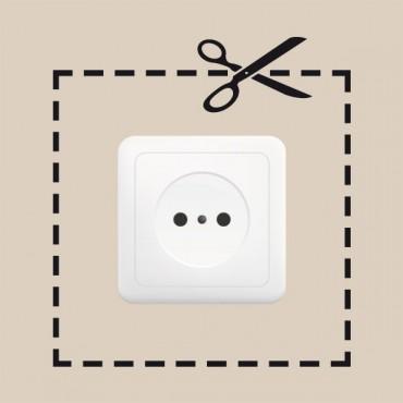 Sticker Prise découpée - stickers prise & stickers muraux - fanastick.com