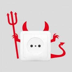 Sticker Prise diable