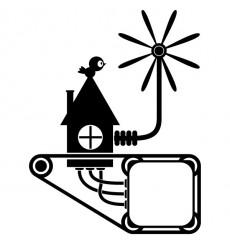 Sticker Prise éolienne