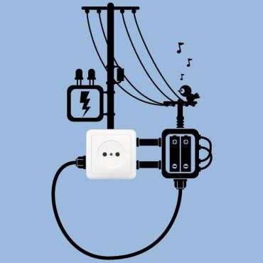 Sticker Prise poteaux électrique - stickers prise & stickers muraux - fanastick.com