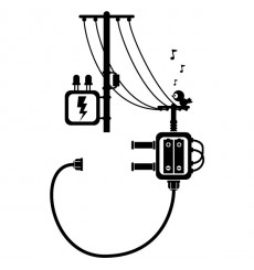 Sticker Prise poteaux électrique