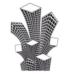 Sticker Building en folie