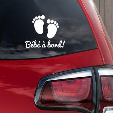 Sticker Bébé à bord pieds - stickers bébé à bord & stickers muraux - fanastick.com