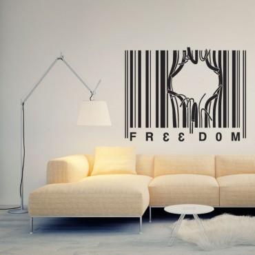 Sticker Freedom - stickers design & stickers muraux - fanastick.com