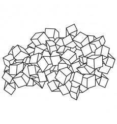 Sticker Nuage de cubes