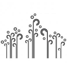 Sticker Tiges bulles design