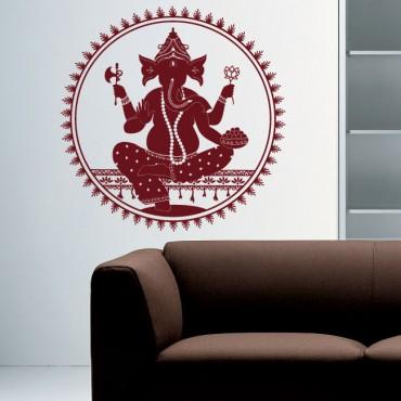 Sticker Ganesh cercle - stickers monde & stickers muraux - fanastick.com