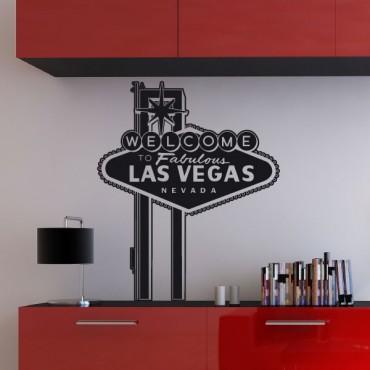 Sticker Las Vegas court - stickers monde & stickers muraux - fanastick.com