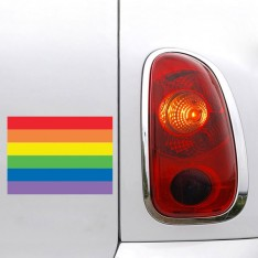 Sticker Drapeau Arc en ciel