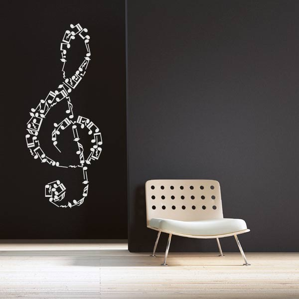 sticker cl de sol stickers musique stickers muraux. Black Bedroom Furniture Sets. Home Design Ideas