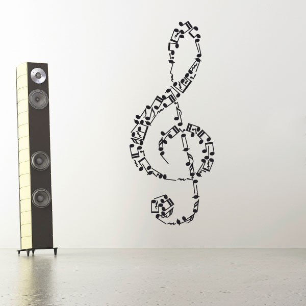 sticker cl de sol stickers musique stickers muraux. Black Bedroom Furniture Sets. Home Design Ideas