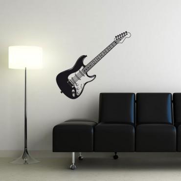 Sticker Guitare électrique - stickers musique & stickers muraux - fanastick.com