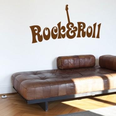 Sticker Rock & Roll 70's - stickers musique & stickers muraux - fanastick.com
