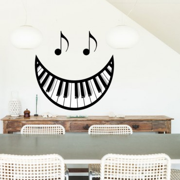 Sticker Sourire clavier - stickers musique & stickers muraux - fanastick.com