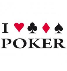Sticker J'aime le poker