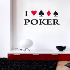 Sticker J'aime le poker