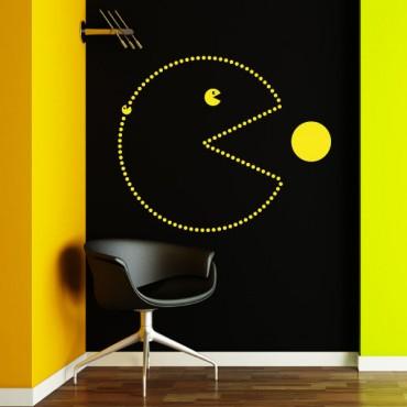 Sticker Pacman - stickers jeux & stickers enfant - fanastick.com