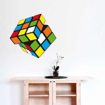 Sticker Rubik's Cube - stickers jeux & stickers enfant - fanastick.com