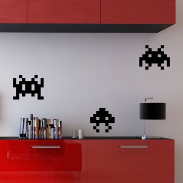 Sticker Space invaders aliens - stickers jeux & stickers enfant - fanastick.com
