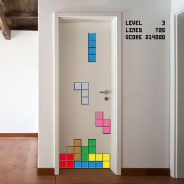 Sticker Tetris - stickers jeux & stickers enfant - fanastick.com
