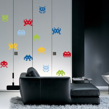 Sticker Space invaders - stickers jeux & stickers enfant - fanastick.com
