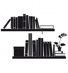Sticker Etagères livres