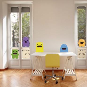 Sticker Monstres marrants - stickers chambre garçon & stickers enfant - fanastick.com
