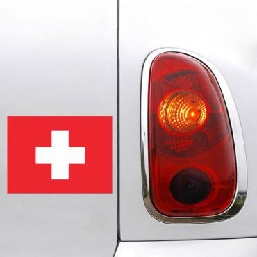 Sticker Drapeau Suisse - stickers drapeaux & stickers muraux - fanastick.com