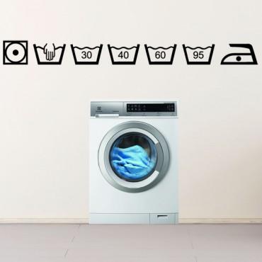 Sticker Symboles lavage - stickers salle de bain & stickers muraux - fanastick.com