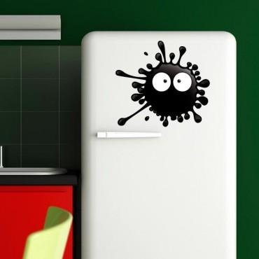 Sticker Tâche vivante noire - stickers frigo & stickers muraux - fanastick.com