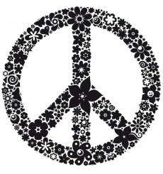 Sticker Peace and love