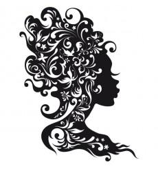 Sticker Portrait arabesque